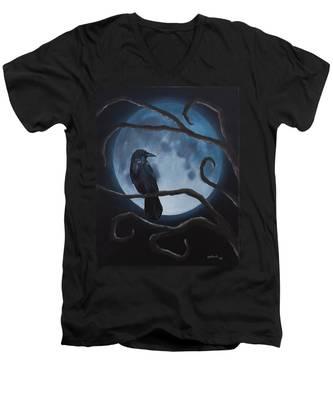 Raven Moon Men's V-Neck T-Shirt