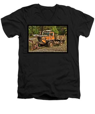 Ready For Snow By Ron Roberts Men's V-Neck T-Shirt