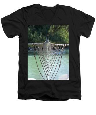 Rope Foot Bridge Men's V-Neck T-Shirt