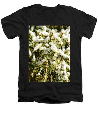 Snowy Pines Men's V-Neck T-Shirt