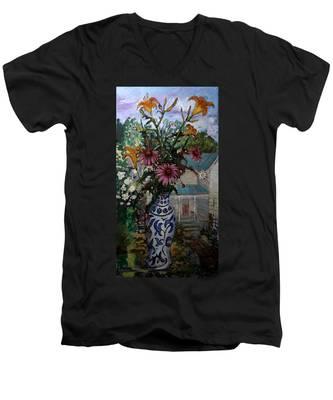 St010 Men's V-Neck T-Shirt