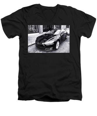 Tesla Model S Men's V-Neck T-Shirt