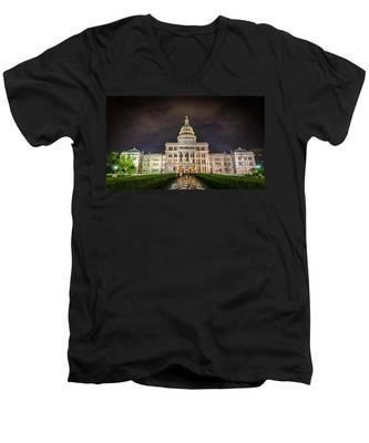 Texas Capitol Building Men's V-Neck T-Shirt