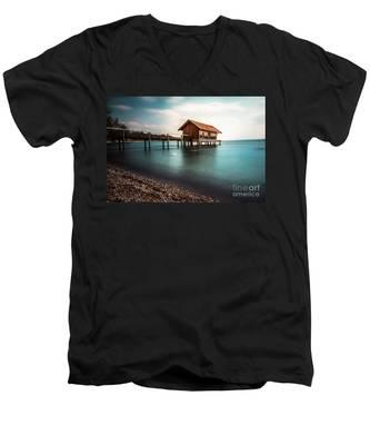 The Boats House II Men's V-Neck T-Shirt