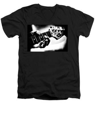 The Guitar Men's V-Neck T-Shirt