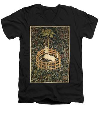 The Unicorn In Captivity Men's V-Neck T-Shirt