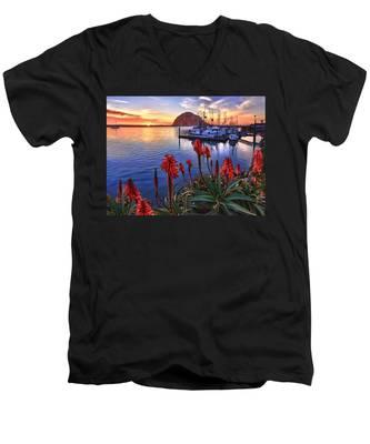 Tranquil Harbor Men's V-Neck T-Shirt