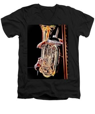 Tuba Player Men's V-Neck T-Shirt