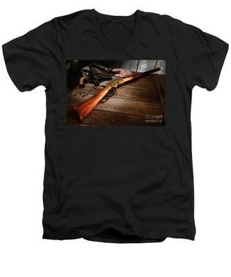 Waiting For The Gunfight Men's V-Neck T-Shirt
