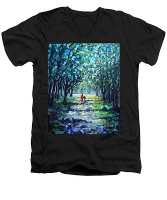Walking In The Park Men's V-Neck T-Shirt