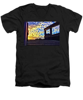 Walkway To Heaven Men's V-Neck T-Shirt