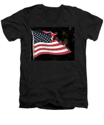 Waving Flag Men's V-Neck T-Shirt