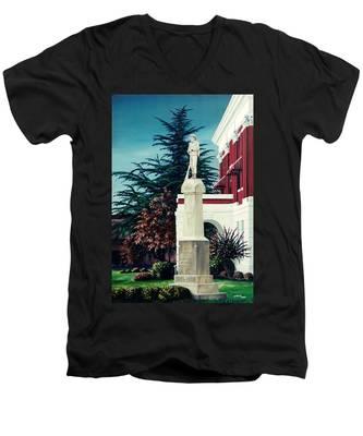 White County Courthouse - Civil War Memorial Men's V-Neck T-Shirt