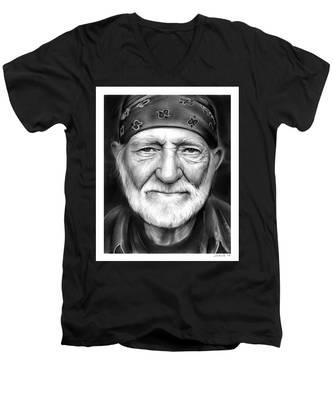 Willie Nelson Men's V-Neck T-Shirt