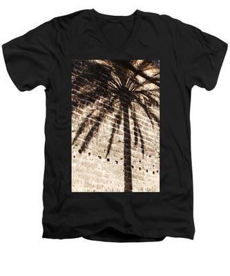 Palm Shadow Men's V-Neck T-Shirt