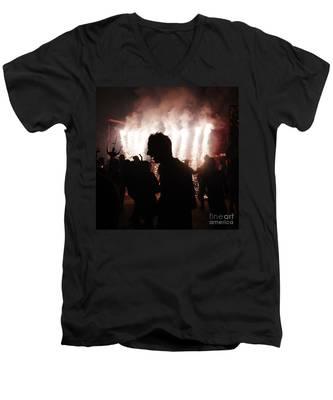 Spark Backlighting Men's V-Neck T-Shirt