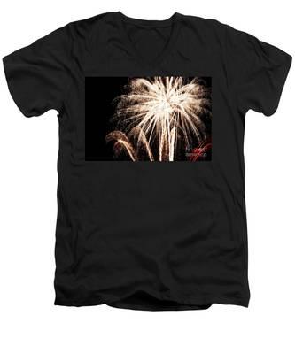 White Explosion Men's V-Neck T-Shirt