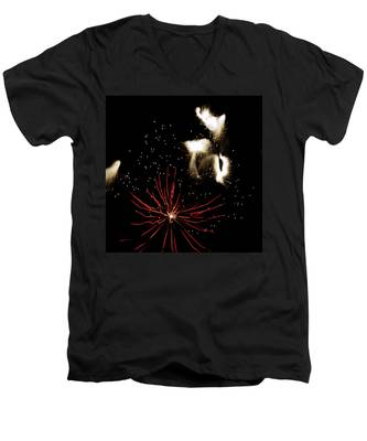 Abstract Fireworks IIi Men's V-Neck T-Shirt