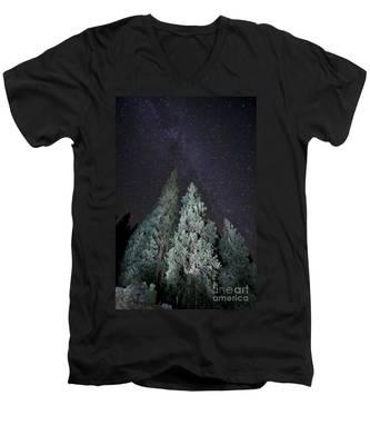 Bright Night Men's V-Neck T-Shirt