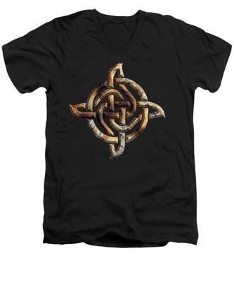 Celtic Rock Knot Men's V-Neck T-Shirt