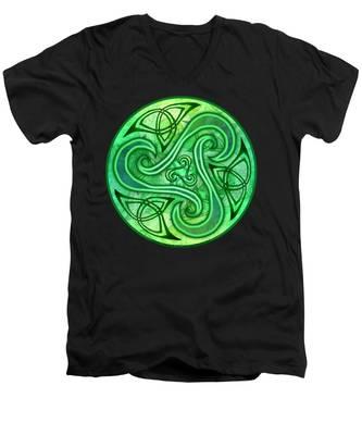 Celtic Triskele Men's V-Neck T-Shirt