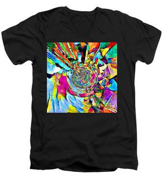 Color Lives Here Men's V-Neck T-Shirt