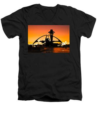 Encounters Lax With Light Men's V-Neck T-Shirt
