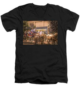 Goshen Mounted Police Men's V-Neck T-Shirt