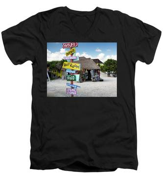Here's What's Here 2 Men's V-Neck T-Shirt