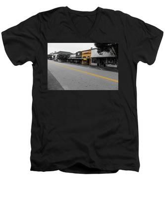 Historic Buford In Selective Color Men's V-Neck T-Shirt
