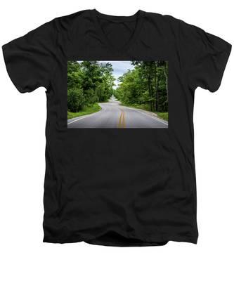 Jens Jensen's Winding Road Men's V-Neck T-Shirt