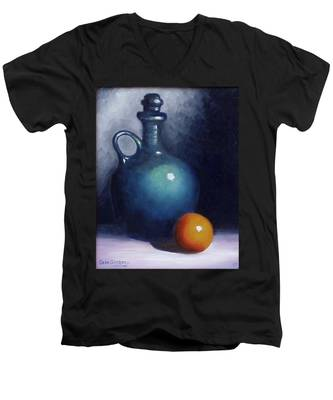 Jug And Orange. Men's V-Neck T-Shirt