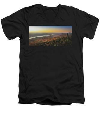 Lake Tremblant At Sunset Men's V-Neck T-Shirt