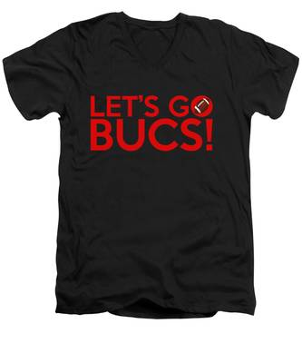 Let's Go Bucs Men's V-Neck T-Shirt
