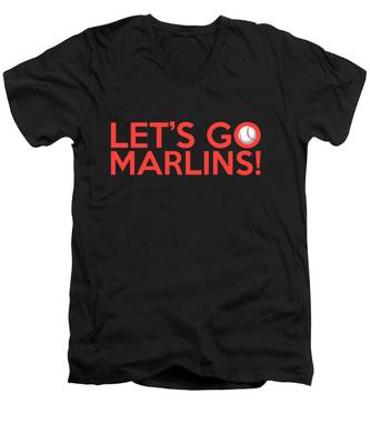 Let's Go Marlins Men's V-Neck T-Shirt