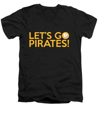 Let's Go Pirates Men's V-Neck T-Shirt