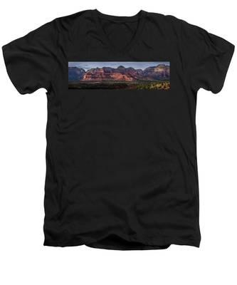 Mescal Mountain Panorama Men's V-Neck T-Shirt