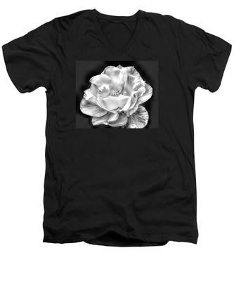 Midnight Rose Men's V-Neck T-Shirt