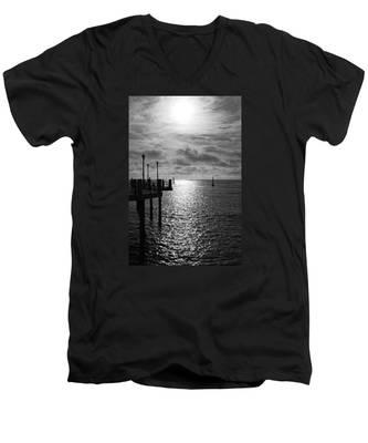 Pier Into The Sun Men's V-Neck T-Shirt