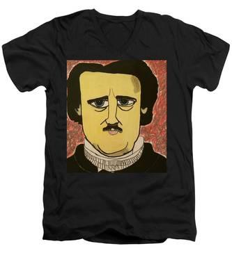 Edgar Allan Poe  Men's V-Neck T-Shirt