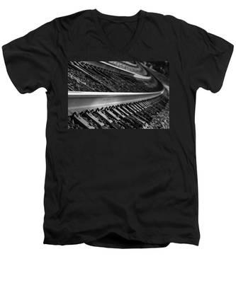 Riding The Rail Men's V-Neck T-Shirt