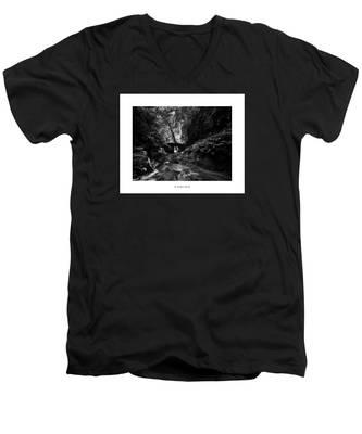 Men's V-Neck T-Shirt featuring the photograph St. Tristan's Sword by Joseph Amaral