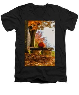 The Last Pumpkin Men's V-Neck T-Shirt