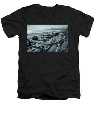 The New P C H Overpass Men's V-Neck T-Shirt