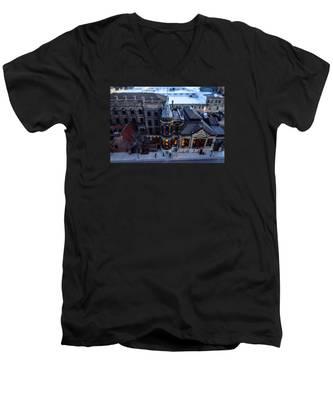 Tiny Pabst Castle Men's V-Neck T-Shirt