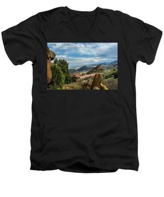 Trails At Red Rocks Men's V-Neck T-Shirt