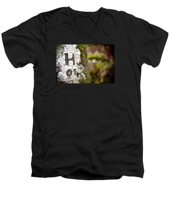 Tree Bark Graffiti - H 04 Men's V-Neck T-Shirt
