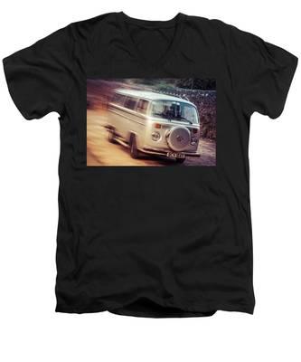 Vw Camper On A Kodak Moment Men's V-Neck T-Shirt