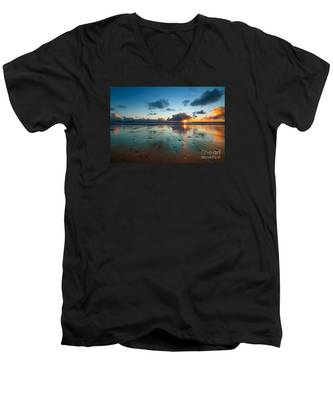 Wales Gower Coast Summer  Men's V-Neck T-Shirt