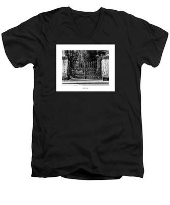 Walter's Walk Men's V-Neck T-Shirt by Joseph Amaral